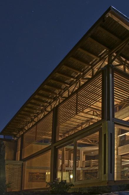 exterior cubierta nocturno