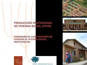 PROGRAMA DE CONSTRUCCIÓN DE VIVIENDA DE INTERÉS SOCIAL PARTICIPATIVA